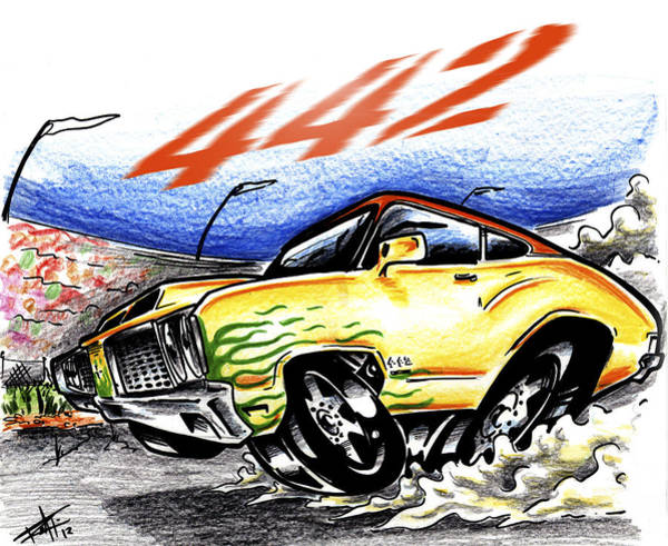 Wall Art - Drawing - Olds by Big Mike Roate