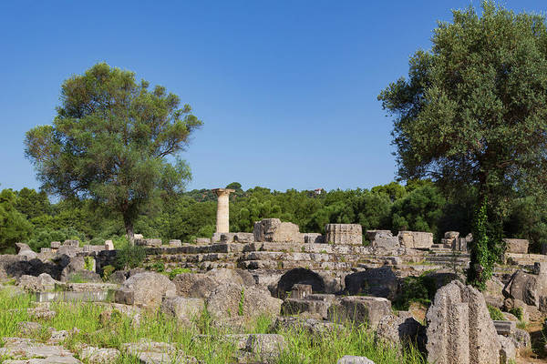 Grecian Photograph - Olympia, Peloponnese, Greece. Ancient by Panoramic Images