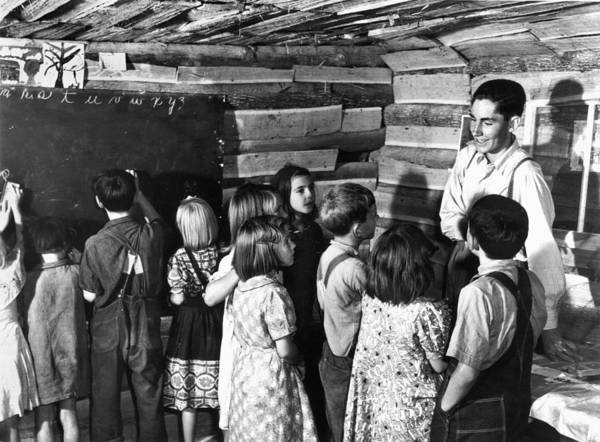 Photograph - One-room Schoolhouse by Marion Post Wolcott