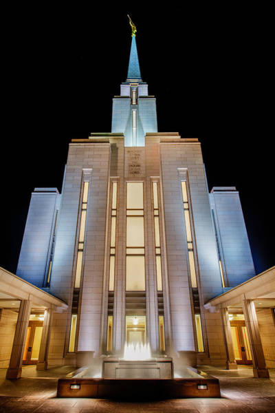Late Wall Art - Photograph - Oquirrh Mountain Temple 1 by Chad Dutson