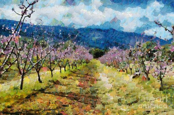 Digital Art - Orchard Views by Fran Woods