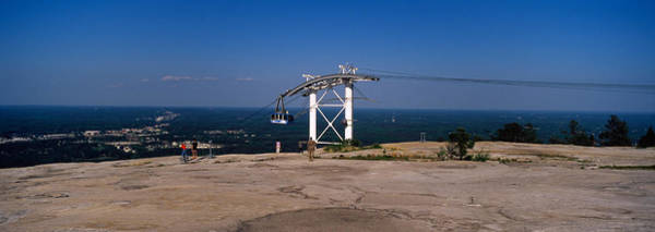 Fulton County Photograph - Overhead Cable Car On A Mountain, Stone by Panoramic Images