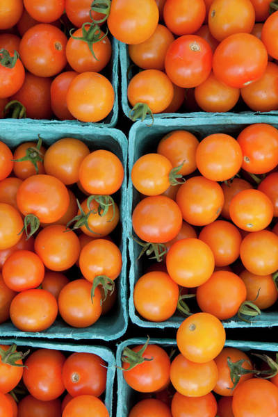 Fruit Photograph - Overhead View Of Tomatoes At A Farmers by Lauren Krohn