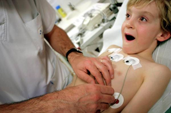 Wall Art - Photograph - Paediatric Heart Monitoring by Claire Deprez/reporters/science Photo Library