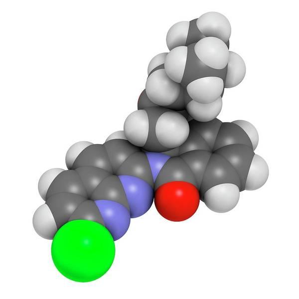 Wall Art - Photograph - Pagoclone Anxiolytic Drug Molecule by Molekuul/science Photo Library