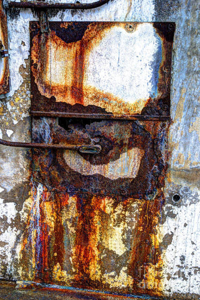 Crumble Photograph - Paint And Rust 13 by Jim Wright