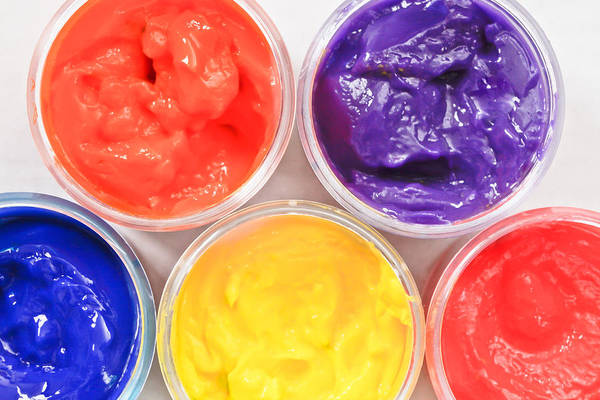 Kindergarten Photograph - Paint Pots by Tom Gowanlock