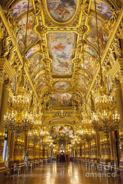 Baluster Wall Art - Photograph - Palais Garnier Interior by Brian Jannsen
