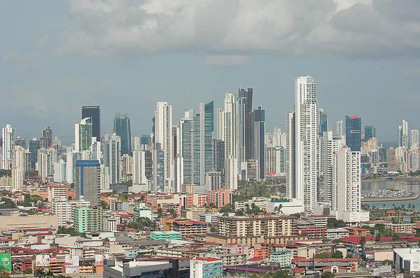 Panama Photograph - Panama City Skyline by Jens Kuhfs