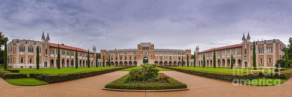 William Photograph - Panorama Of Rice University Academic Quad - Houston Texas by Silvio Ligutti