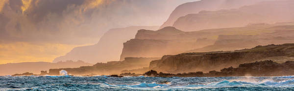 Wall Art - Photograph - Panoramic Of Molokais North Shore Sea by Richard A Cooke Iii.