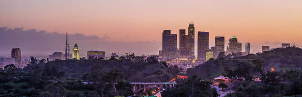 Wall Art - Photograph - Panoramic View Of Downtown Los Angeles by Taesam Do