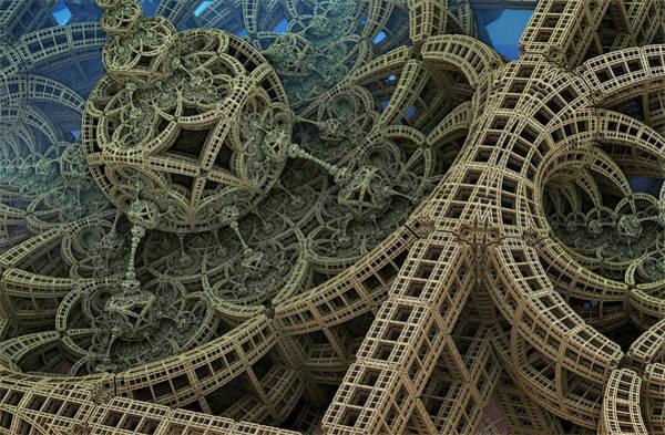 Fractal Landscape Digital Art - Parallel World 2 by Evgeniy Lankin