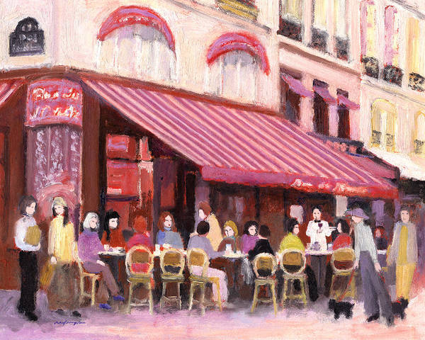 Paris Cafe Bar Art Print