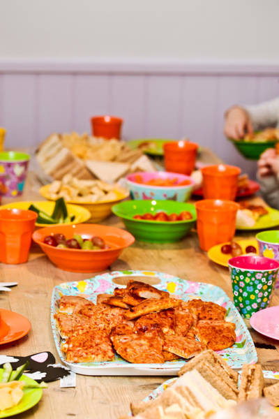 Kindergarten Photograph - Party Food by Tom Gowanlock