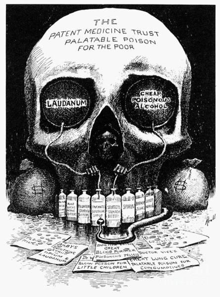 Photograph - Patent Medicine Cartoon by Granger