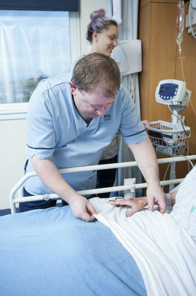 Pulse Photograph - Patient Care In Hospital by Lewis Houghton/science Photo Library