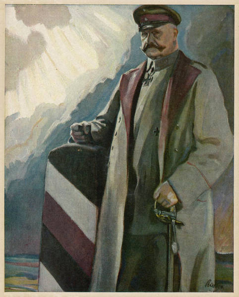 Wall Art - Drawing - Paul Von Hindenburg-  German General by Mary Evans Picture Library