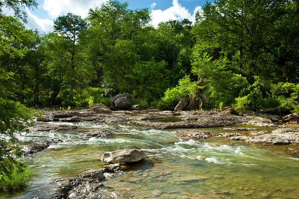 Cypress Photograph - Pedenales River On A Fine Summer Morning by Mark Weaver