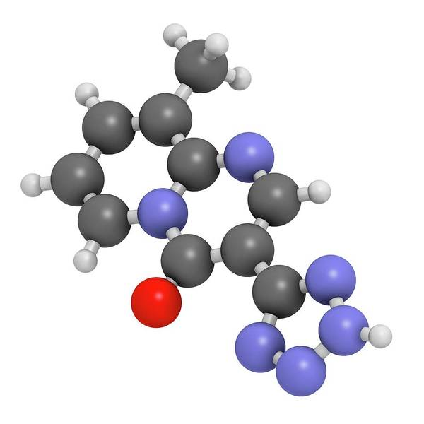 Mast Photograph - Pemirolast Eye Allergy Drug Molecule by Molekuul