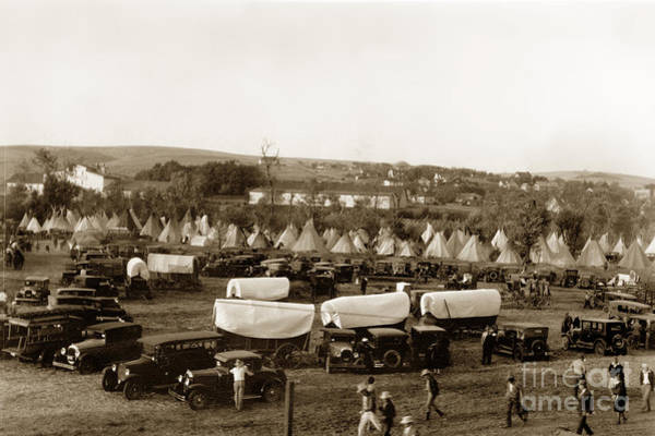 Photograph - Pendleton Round-up Oregon Lewis Josselyn Photo Sept. 1929 by California Views Archives Mr Pat Hathaway Archives