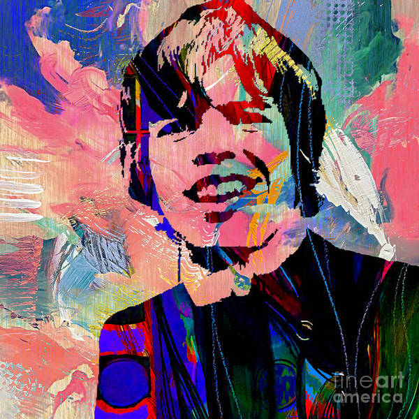 Wall Art - Mixed Media - Peter Noone Herman's Hermits by Marvin Blaine