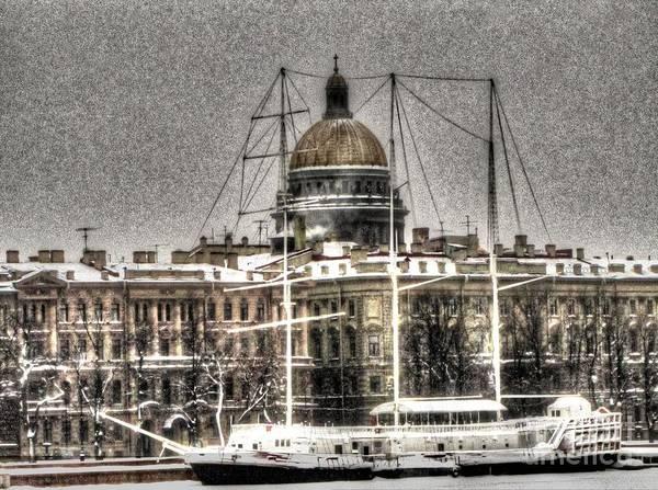 She Mixed Media - Peterburg Winter  by Yury Bashkin