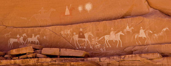 Petroglyph Photograph - Petroglyphs On Sandstone, Canyon De by Panoramic Images