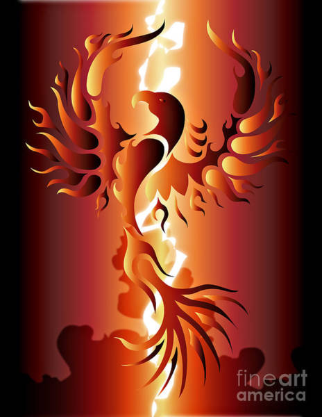 Reborn Wall Art - Digital Art - Phoenix Rising by Robert Ball