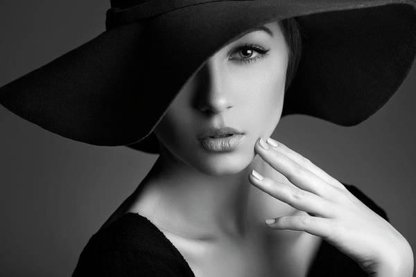 Beautiful People Photograph - Photo Of Beautiful Woman In Retro Style by Coffeeandmilk