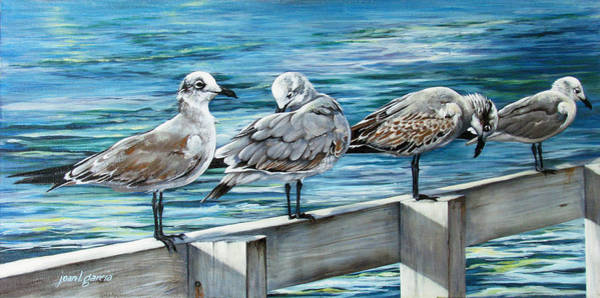 Painting - Pier Gulls by Joan Garcia