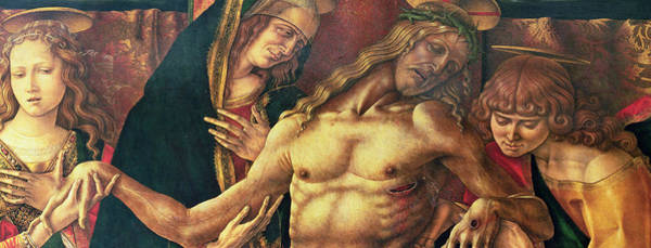 Church Of The Cross Painting - Pieta by Carlo Crivelli