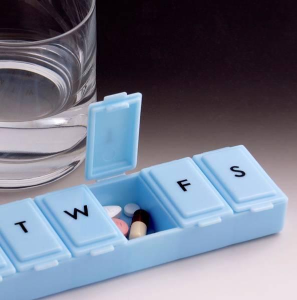 Cholesterol Photograph - Pill Box Organiser by Sheila Terry
