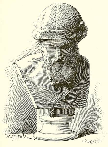 Ancient Drawing - Plato  by English School