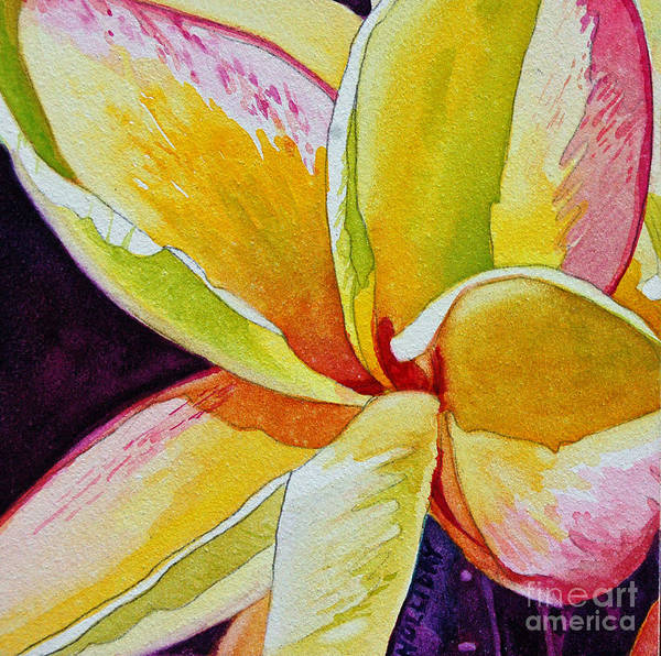 Painting - Plumeria by Terry Holliday