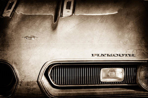 Photograph - Plymouth Barracuda Grille Emblem by Jill Reger