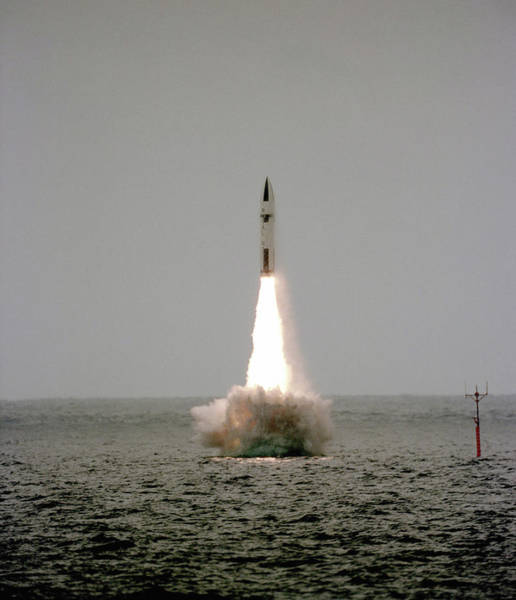British Armed Forces Photograph - Polaris Nuclear Missile Launch by Us National Archives