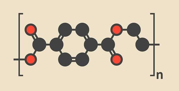 Carbon Fiber Photograph - Polyethylene Polymer Molecule by Molekuul