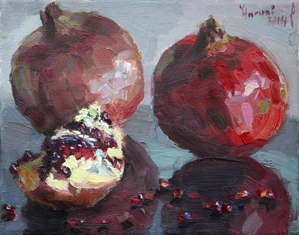 Wall Art - Painting - Pomegranates by Ylli Haruni