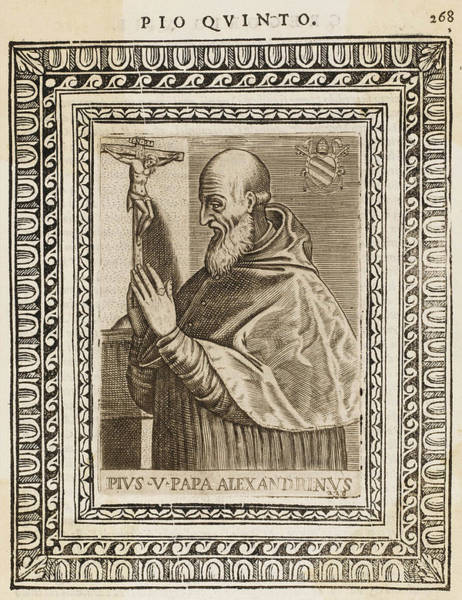 Wall Art - Drawing - Pope Pius V (michele Ghislieri)  Pope by Mary Evans Picture Library