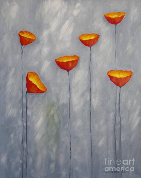 Atmospheric Painting - Poppies by Veikko Suikkanen