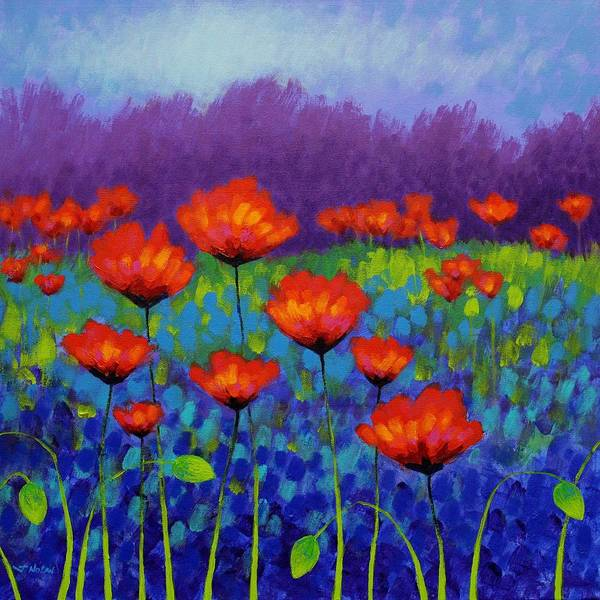Homage Wall Art - Painting - Poppy Meadow by John  Nolan