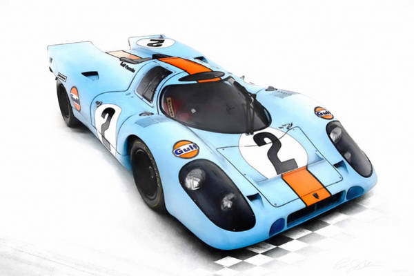 Wall Art - Digital Art - Porsche 917 by Peter Chilelli