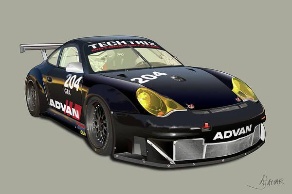 Wall Art - Digital Art - Porsche 996 Gt3 Rsr by Alain Jamar