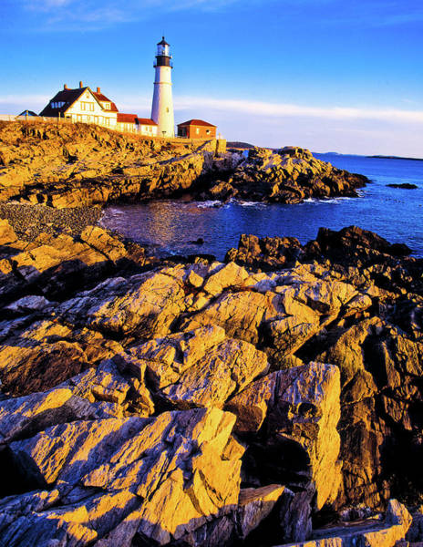 Casco Bay Photograph - Portland Head Lighthouse, Cape by Panoramic Images