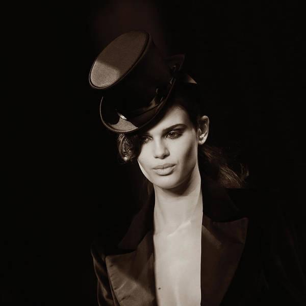 Topics Photograph - Portrait At Paris Fashion Week by Vittorio Zunino Celotto