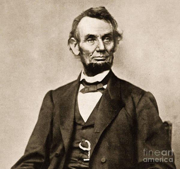 Republican Photograph - Portrait Of Abraham Lincoln by Mathew Brady