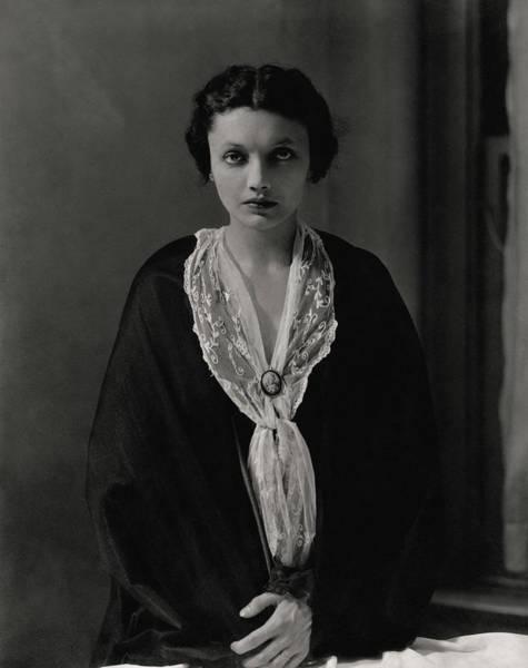 Photograph - Portrait Of Katharine Cornell by Edward Steichen