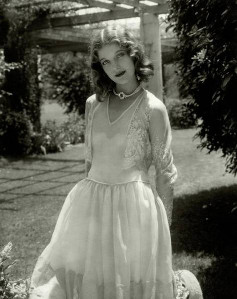 Front Yard Photograph - Portrait Of Loretta Young by Edward Steichen