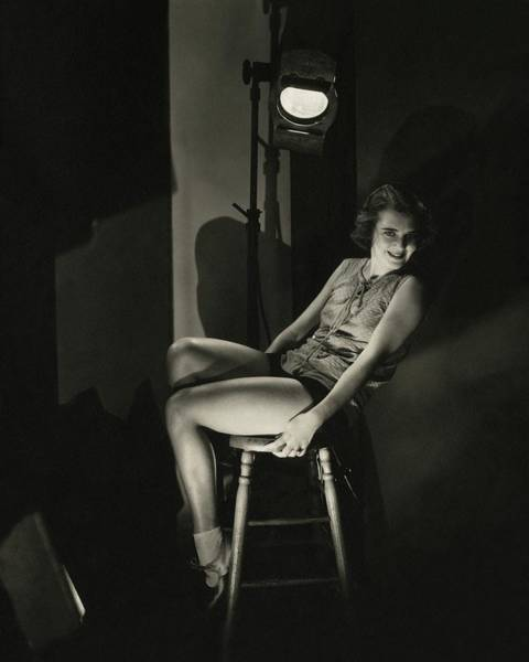 Illuminated Photograph - Portrait Of Ruby Keeler by Edward Steichen